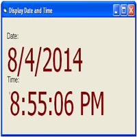 Display Date and Time