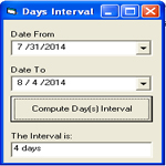 Compute Interval of Days