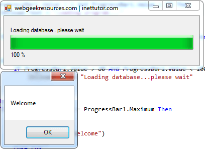 Progress Bar Demo In Visual Basic Net Inettutor Com