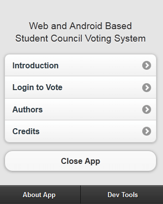 Web and Android Based Student Council Voting System