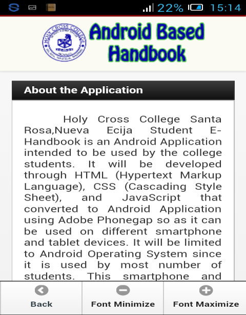 Android Based Handbook