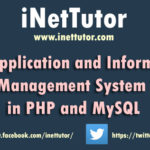 Loan Application and Information Management System in PHP and MySQL
