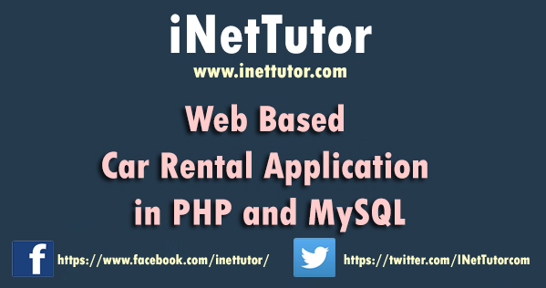 Web Based Car Rental in PHP MySQL