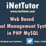 Web Based School Management System in PHP MySQL