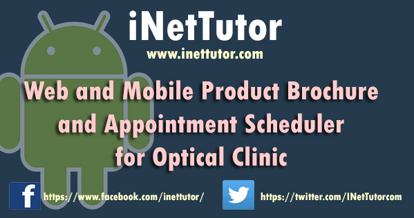 Web and Mobile Product Brochure and Appointment Scheduler for Optical Clinic