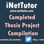 Completeed Thesis Project for Information Technology