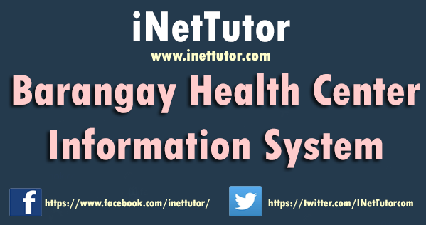 Barangay Health Center Information System