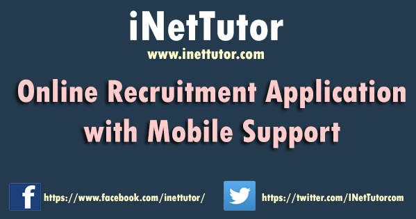 Online Recruitment Application with Mobile Support