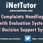 Complaints Handling with Evaluation System and Decision Support System