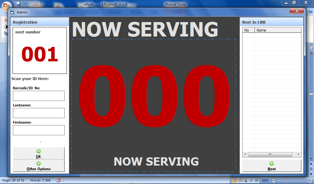 Queuing System Admin Panel
