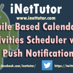 Mobile Based Calendar of Activities Scheduler with Push Notification