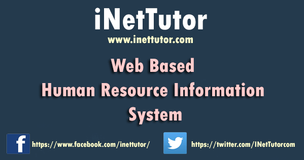 Web Based Human Resource Information System