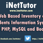 Web Based Inventory of Students Information System using PHP, MySQL and Bootstrap