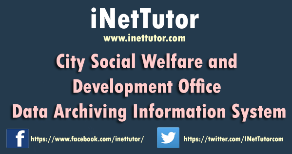 City Social Welfare and Development Office Data Archiving Information System