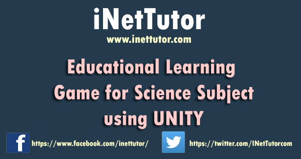 Educational Learning Game for Science Subject using UNITY