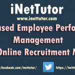 Web Based Employee Performance Management with Online Recruitment Module