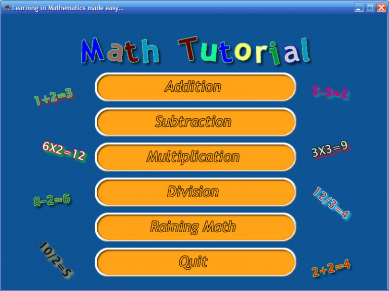 Interactive Math Game