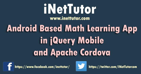 Android Based Math Learning App in jQuery Mobile and Apache Cordova