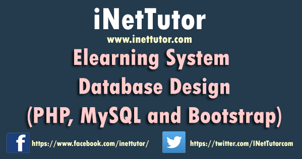 Elearning System Database Design (PHP, MySQL, Bootstrap)