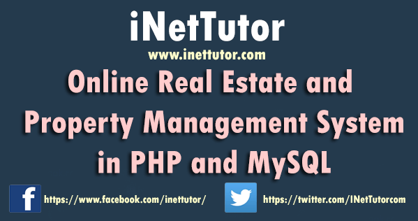 Online Real Estate and Property Management System in PHP and MySQL