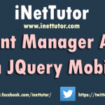 Event Manager App in JQuery Mobile