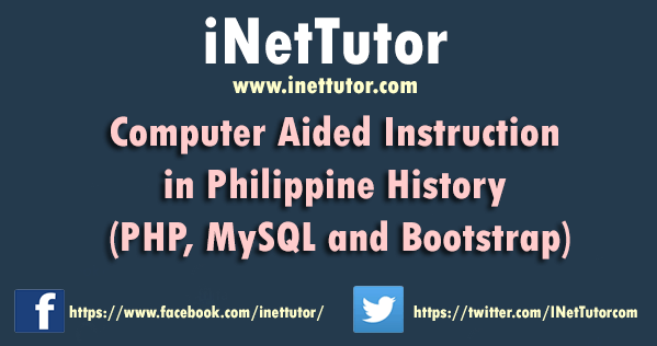Computer Aided Instruction in Philippine History