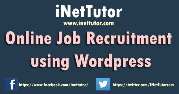 Online Job Recruitment using Wordpress
