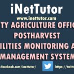 CITY AGRICULTURE OFFICE POSTHARVEST FACILITIES MONITORING AND MANAGEMENT SYSTEM