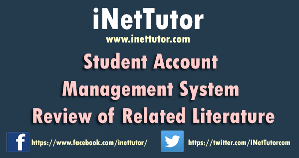 Student Account Management System Review of Related Literature