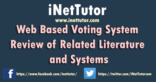 Web Based Voting System Review of Related Literature and Systems