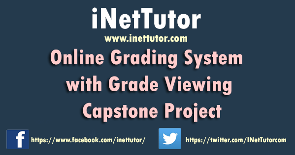 Online Grading System with Grade Viewing Capstone Project