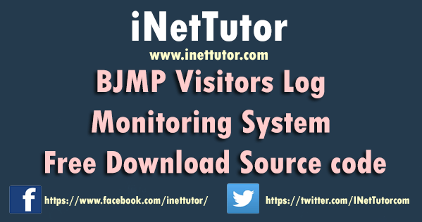 BJMP Visitors Log Monitoring System Free Download Source code