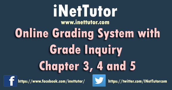 Online Grading System with Grade Inquiry Chapter 3, 4 and 5