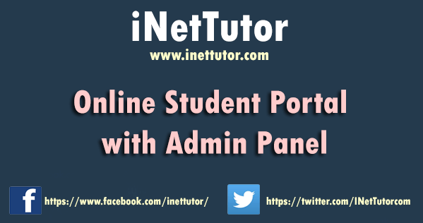 Online Student Portal with Admin Panel