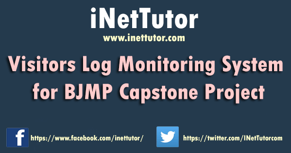 Visitors Log Monitoring System for BJMP Capstone Project