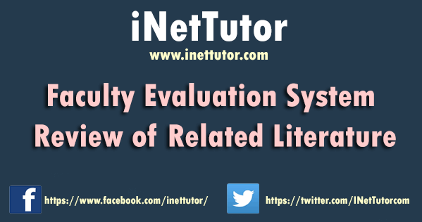 Faculty Evaluation System Review of Related Literature