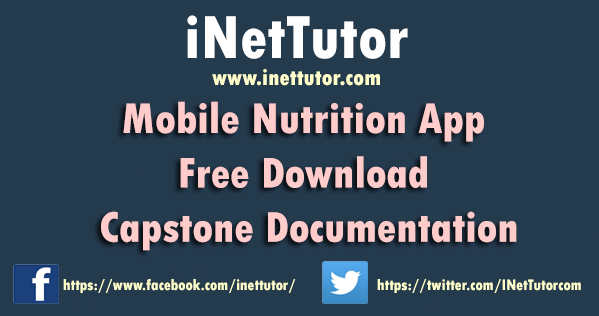 Mobile Nutrition App Free Download Capstone Documentation