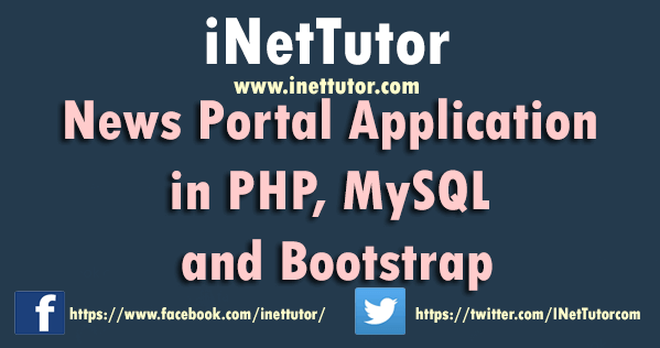 News Portal Application in PHP, MySQL and Bootstrap