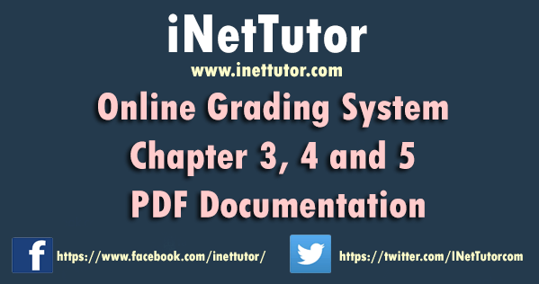 Online Grading System Chapter 3, 4 and 5 PDF Documentation