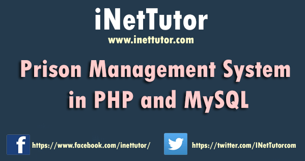 Prison Management System in PHP and MySQL