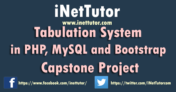 Tabulation System in PHP, MySQL and Bootstrap Capstone Project