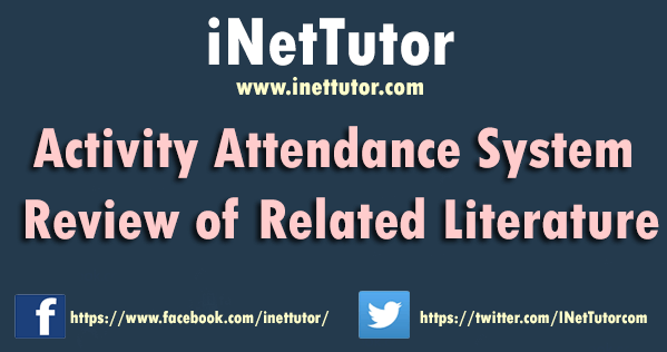 Activity Attendance System Review of Related Literature
