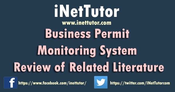 Business Permit Monitoring System Review of Related Literature