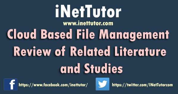 Cloud Based File Management Review of Related Literature and Studies
