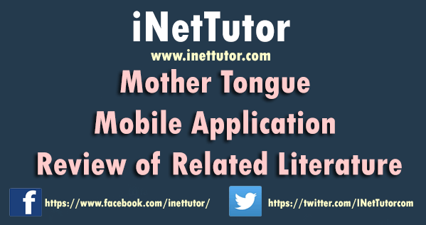 Mother Tongue Mobile Application Review of Related Literature