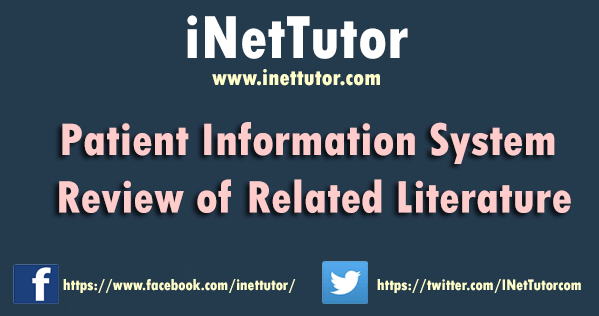 Patient Information System Review of Related Literature