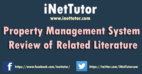 Property Management System Review of Related Literature
