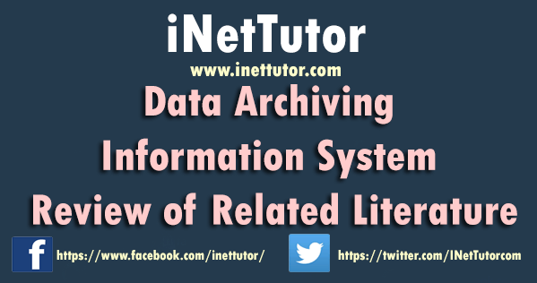 Data Archiving Information System Review of Related Literature