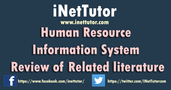 Human Resource Information System Review of Related literature