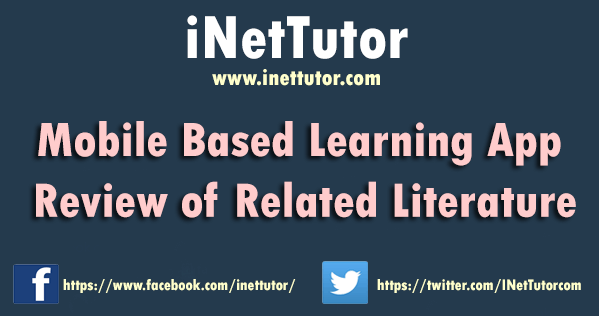 Mobile Based Learning App Review of Related Literature
